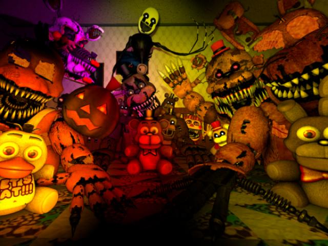 Você conhece o Fnaf 4 Halloween Edition?