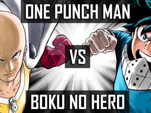Você é mais One Punch Man ou Boku No Hero Academia?