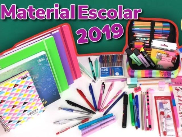 Qual seria o seu material escolar de 2019?