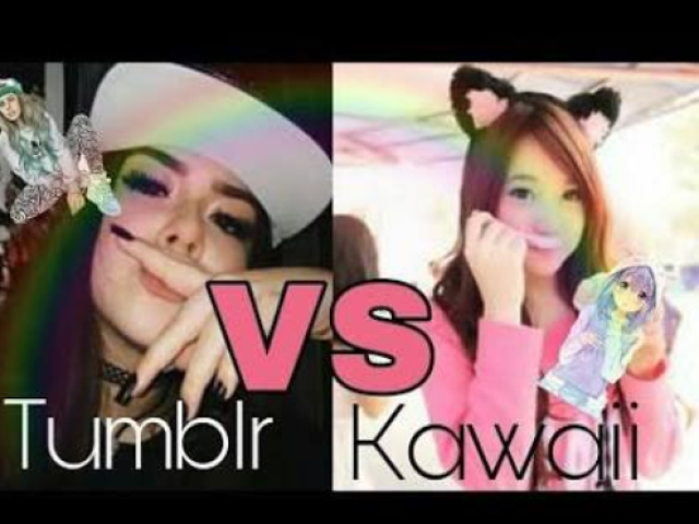 Você é mais Tumblr ou Kawaii?