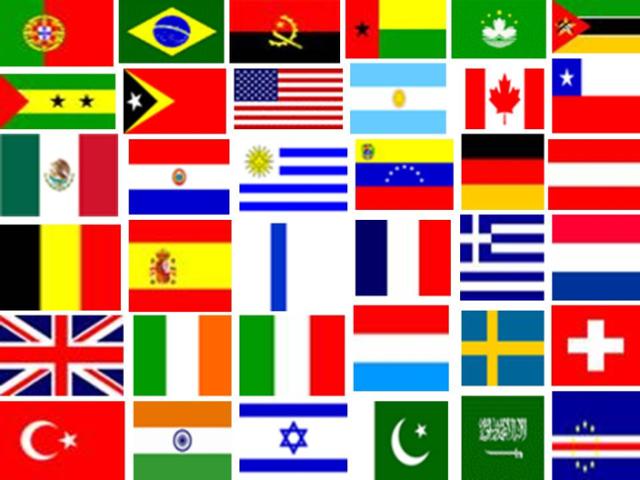 Qual é a bandeira de cada país?