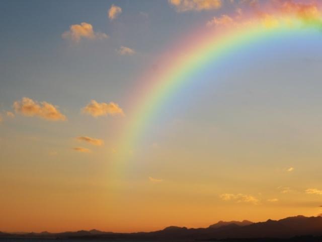Qual cor do arco-íris mais combina com você?
