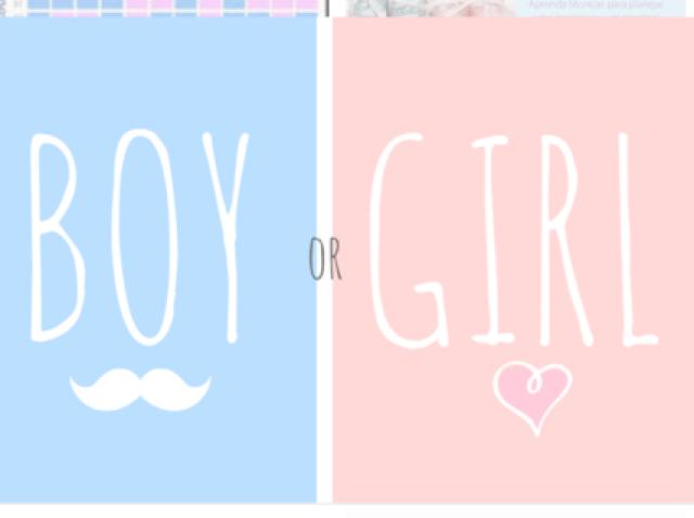 Seu filho vai ser menino ou menina?
