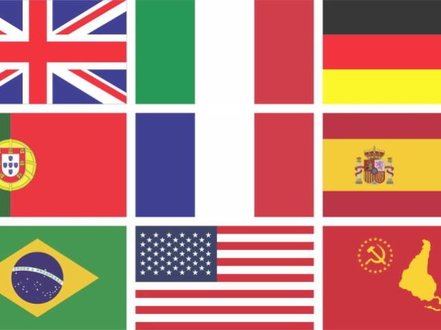 Você reconhece a bandeira desses países?