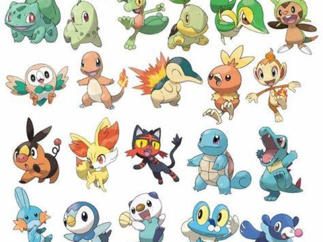 Qual seria seu pokémon inicial?