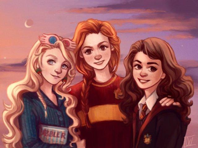 Você é mais Hermione, Gina ou Luna?