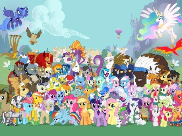 Você sabe o nome dos personagens de My Little Pony?
