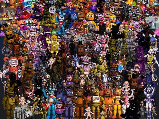 Qual animatronic de fnaf é você? (geral)