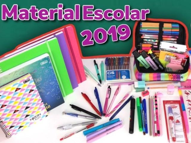 Qual tipo de material escolar você teria?
