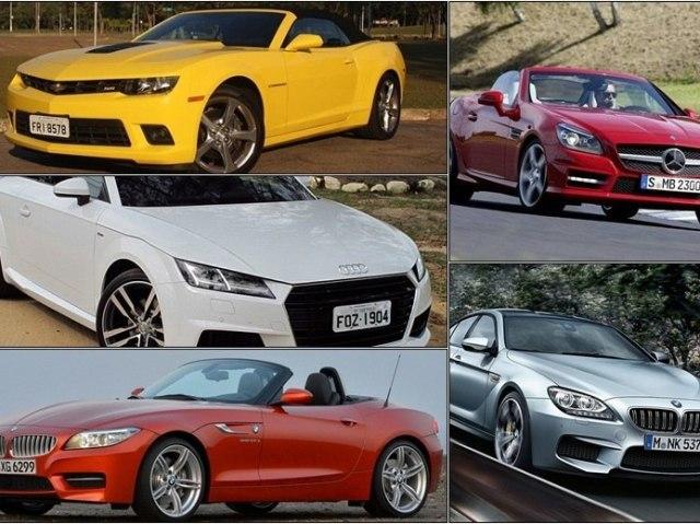 Teste seu conhecimento em modelos de carros esportivos.
