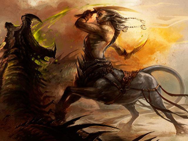 Qual é a criatura da mitologia grega?