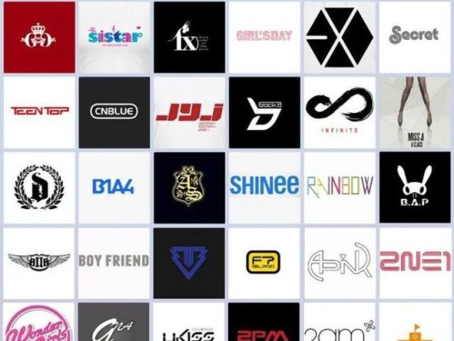 Você conhece os logos dos grupos de K-pop?