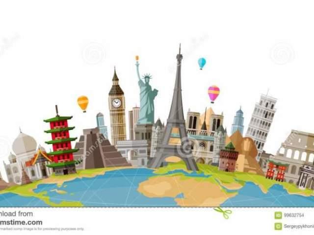 Tu conhecestes os monumentos famosos?