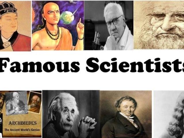 Você conhece os cientistas famosos?