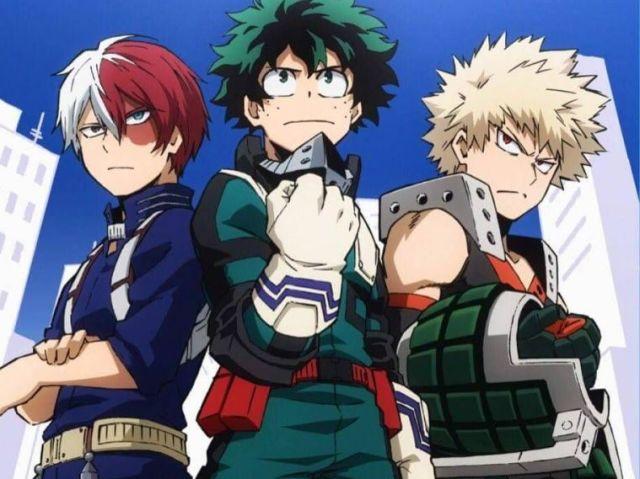Quem você seria Todoroki, Bakugo ou Midoriya?