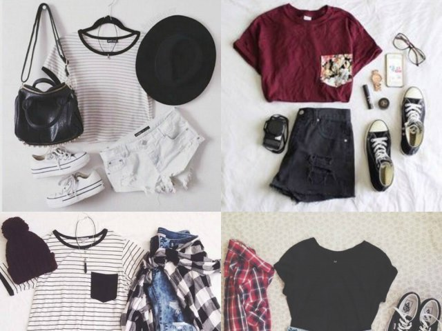 Escolha os looks e diremos qual roupa combina mais com você!