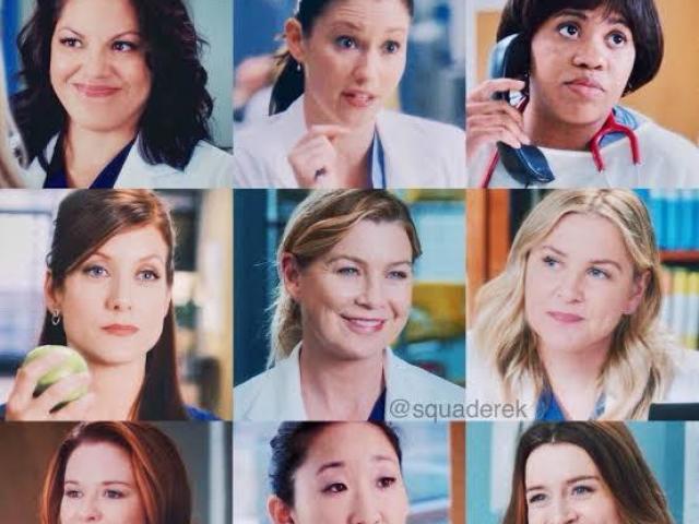 Qual das mulheres de Grey's Anatomy você seria?