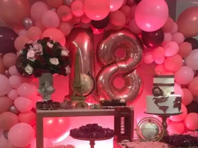 Monte sua festa de 18 anos perfeita! ❤