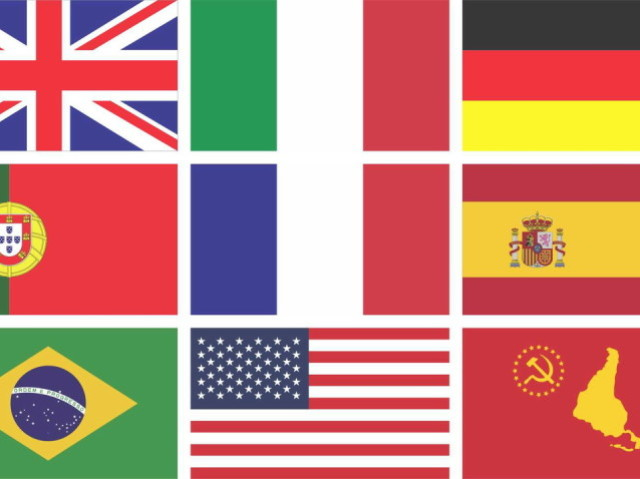Quiz Bandeiras Mundiais. Nível Experiente.