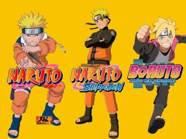 Você conhece Naruto clássico, Naruto Shippuden e Boruto?