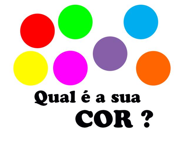 Teste das cores: Qual é a sua cor?