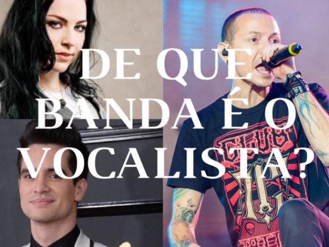 De que banda de rock é esse vocalista?