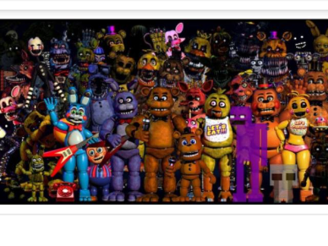 Você conhece todos os personagens de fnaf?