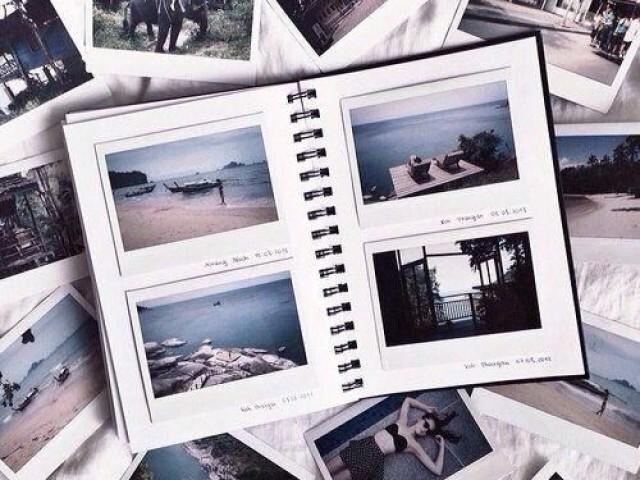 Monte seu álbum de fotografia com a BFF