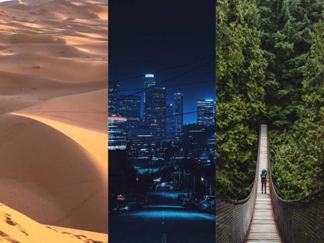 Praia, campo ou cidade?