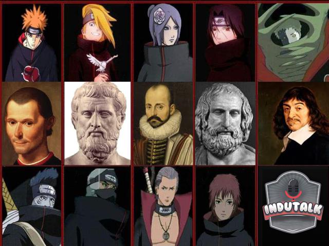 Todo mundo é uma mistura de um membro da Akatsuki com um filósofo clássico