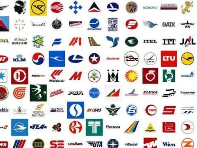 Você consegue adivinhar a companhia aérea pelo logo?
