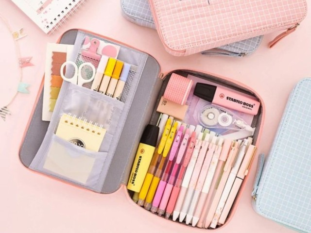 🌧🌸•| Monte seu material escolar coreano! |•🌸🌧
