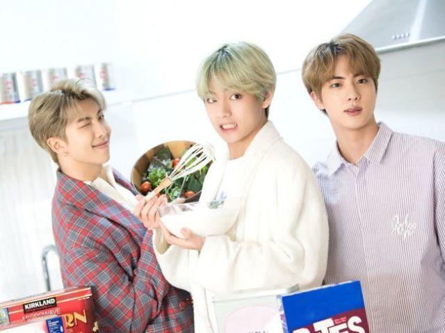 Com quem você namoraria? Jin, RM ou V?