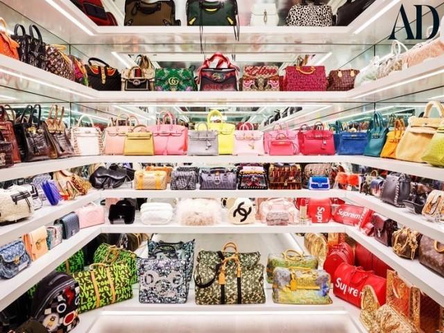 Monte seu closet de bolsas