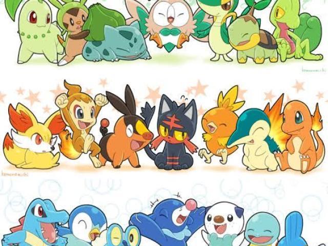 Qual tipo dos inicias de Pokémon mais combina com você?