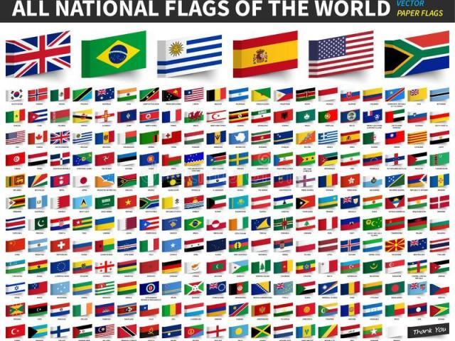 Adivinhe o país pela bandeira~ Médio-Difícil