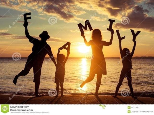 Monte seu dia com sua família