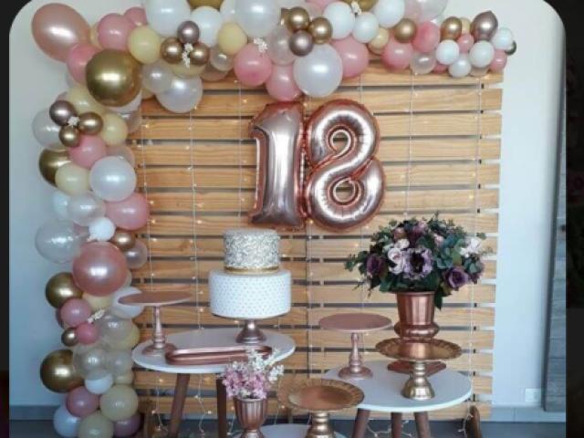 Monte sua festa de 18 anos