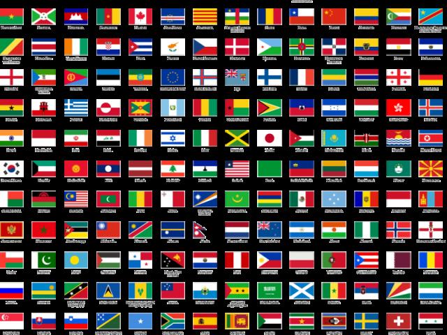 Você conhece as cores das bandeiras?