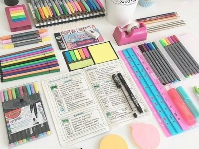 Organize seu material escolar