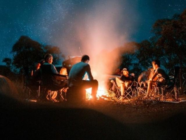 Monte seu acampamento nas montanhas 🏕