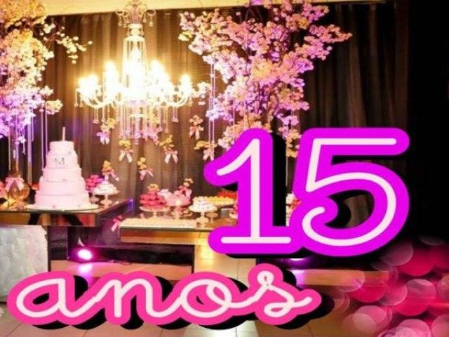 Faça sua festa de 15 anos
