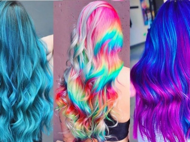 Seu cabelo colorido dos sonhos