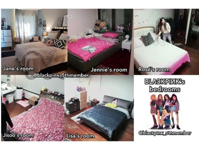 Faça o seu quarto dos sonhos e lhe direi com qual dormitório do BLACKPINK combina mais ou mais parece!💗🖤