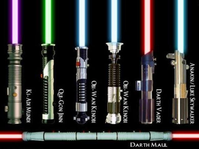 Qual seria a cor do seu sabre de luz no universo Star Wars?