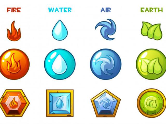 Qual elemento combina mais com você?