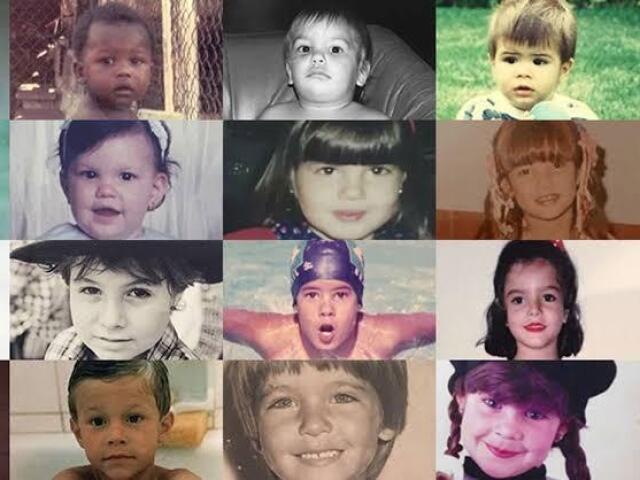 Quem é o(a) famoso(a) quando era criança?