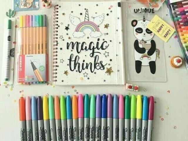 Qual é seu estilo de material escolar? 🏫