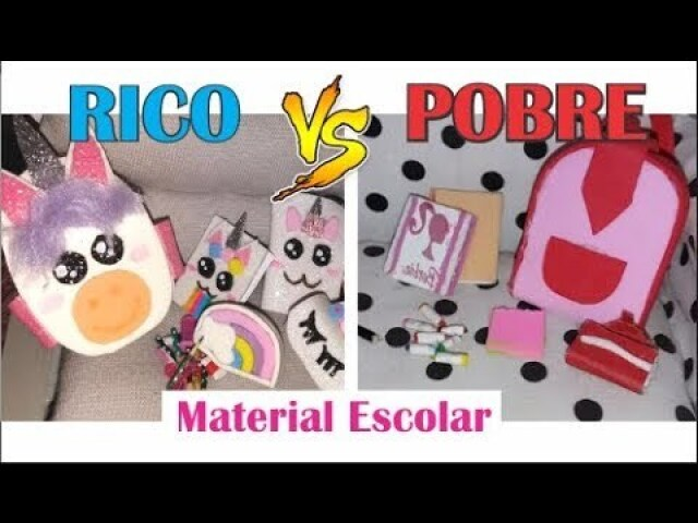 Material escolar Rico vs pobre
