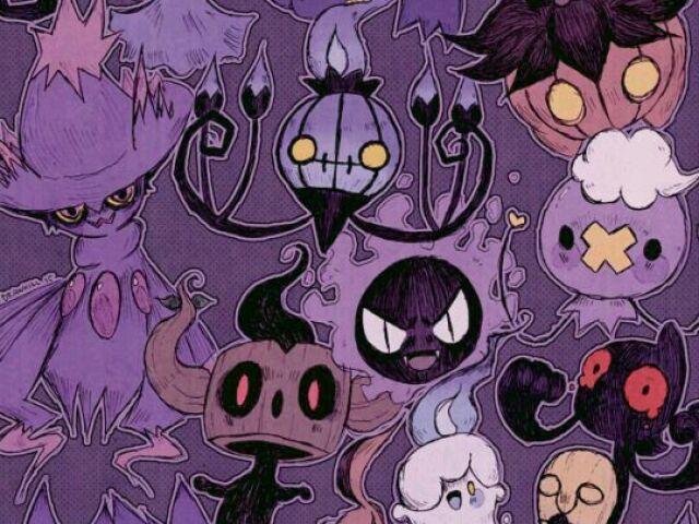 Qual é o seu Pokémon do tipo fantasma?